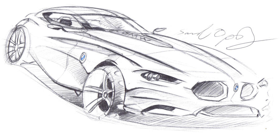 BMW Z Coupe sketch by dyrborgdesign