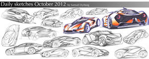 Daily sketches October 2012 by dyrborgdesign