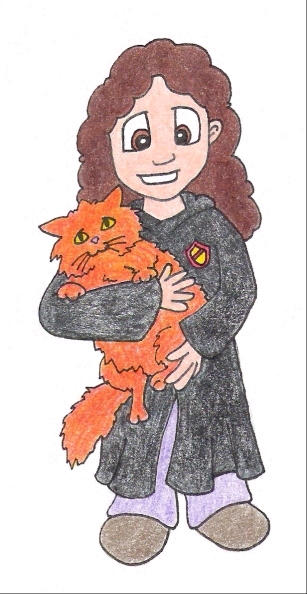 Hermione and Crookshanks by aneesah on DeviantArt