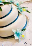 Teal wedding cake 2