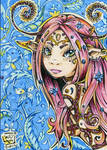 ACEO 089 FAIRY GIRL MORGANA
