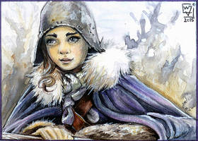 ACEO 103 Arya Stark/ Game of Thrones by WojikHell
