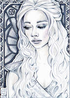 ACEO 111 Daenerys Targaryen / Game of Thrones by WojikHell