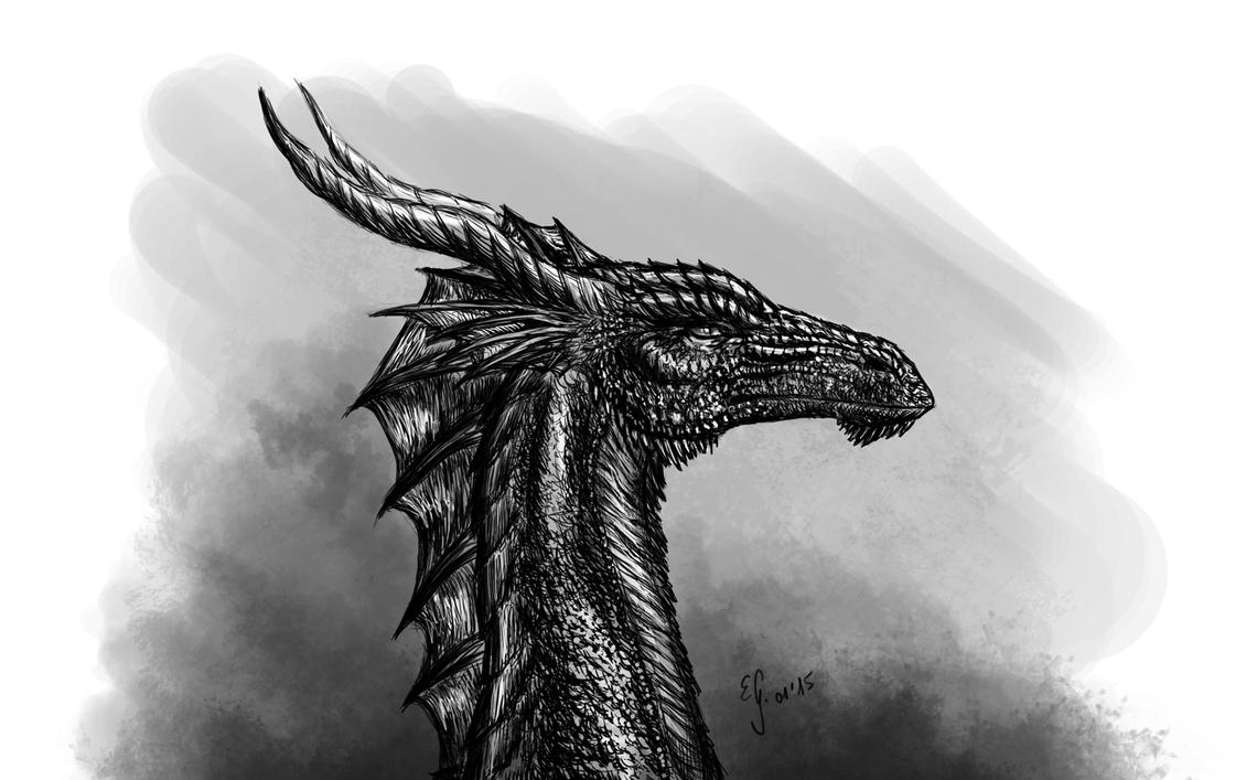 Random dragon head by The-Black-Panther