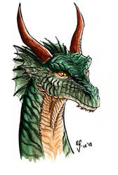 Green dragon by The-Black-Panther