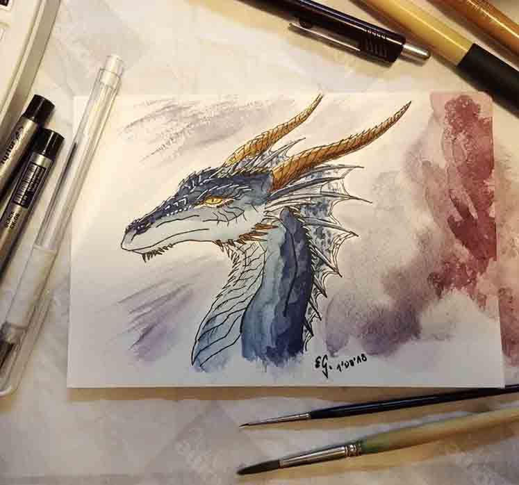 Smaugust, day 1: Blue by The-Black-Panther