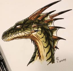 Green dragon - Drakan style by The-Black-Panther