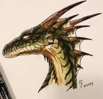 Green dragon - Drakan style