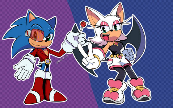 AU: Sonic and Rouge Role Swap