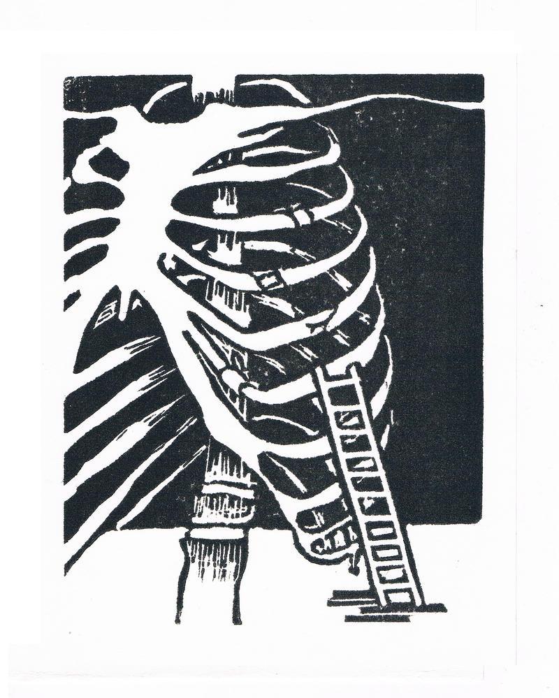 Broken ribs by Grafietstift