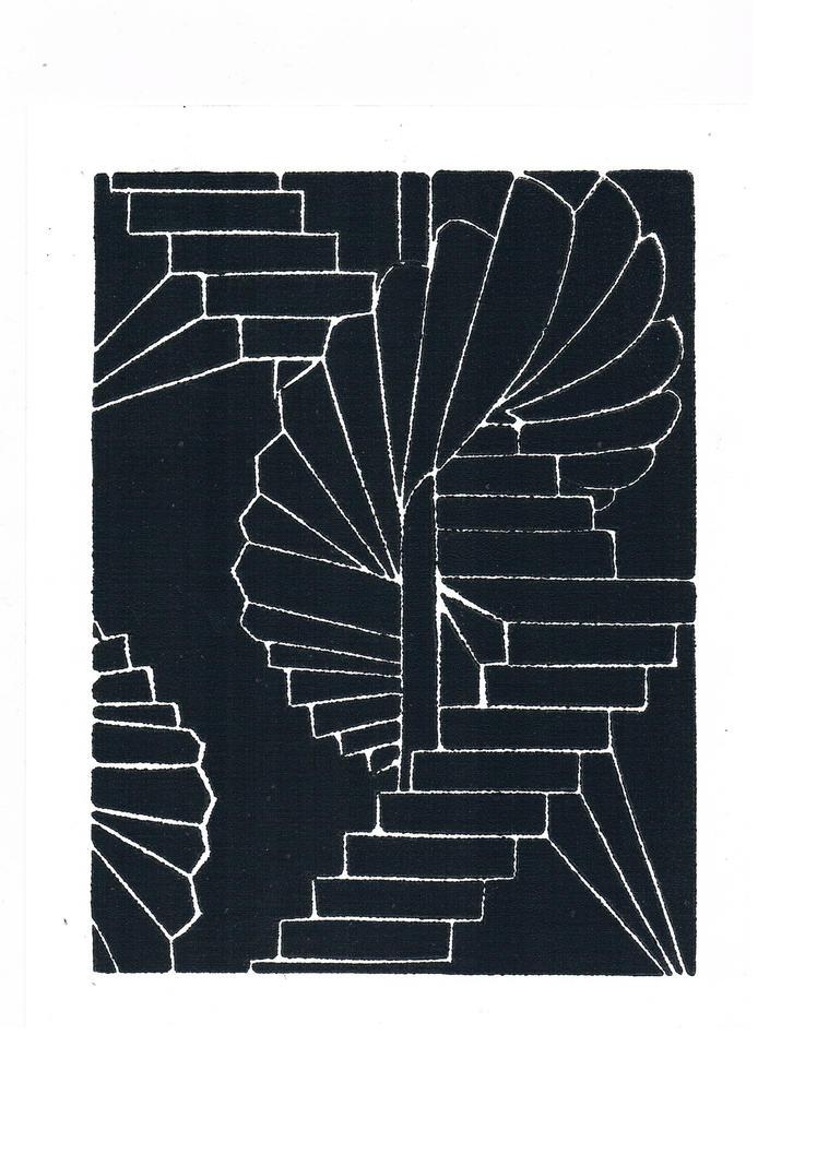 Linoleumprint by Grafietstift