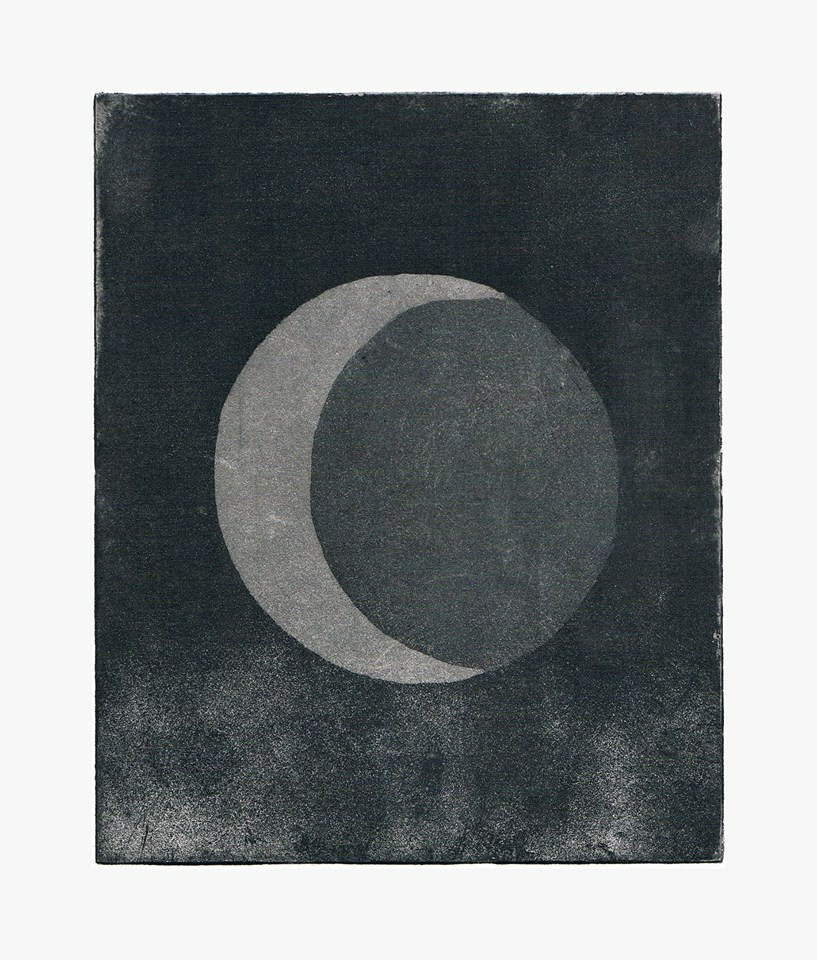 Moon (Aquatint) by Grafietstift