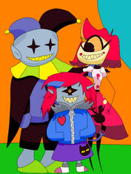 Jevil, Niffty, and Clementine