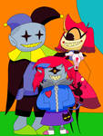 Jevil, Niffty, and Clementine by DjimmiGreat