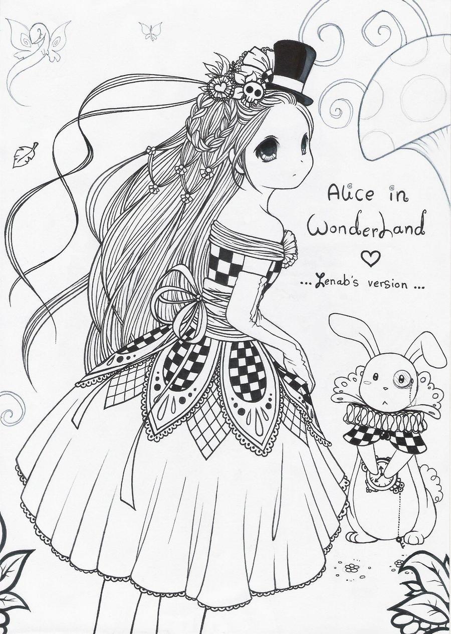 Alice in Wonderland .: 2 :. by zenab-tareef on DeviantArt