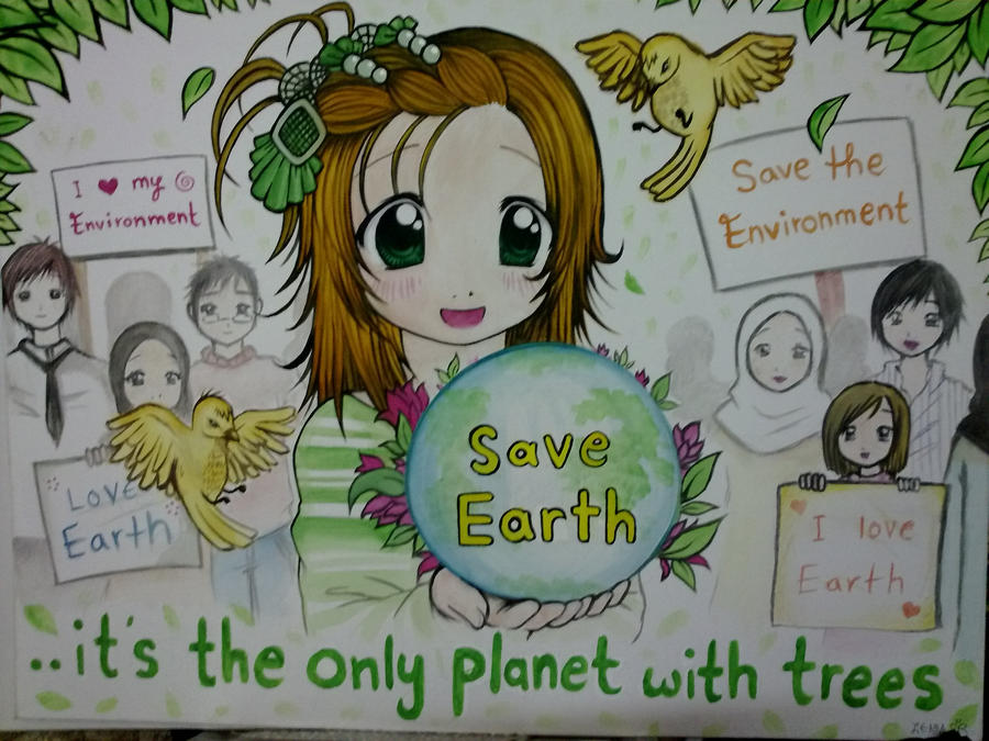 Save+Environment+Paintings Save Earth Paintings Save earth by zenab ...
