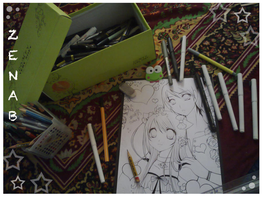 :+: The Inking Process :+: by zenab-tareef