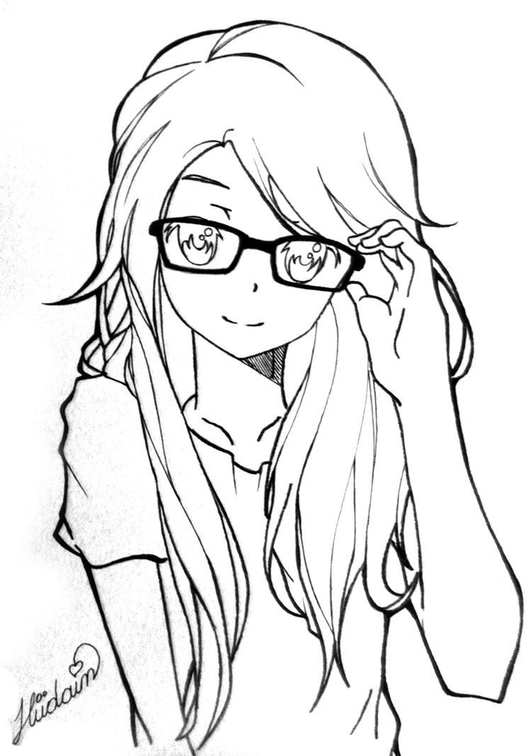 Anime Girl By Hudaim On Deviantart