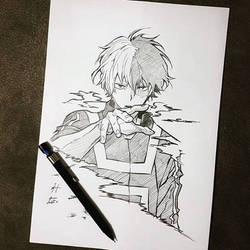 Hero Academia (Shoto) by hudaim