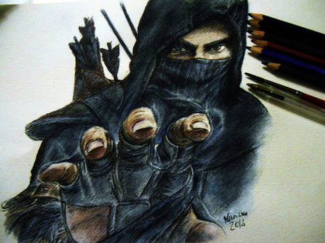 Garrett The Master Thief-ballpoint pen and aquarel
