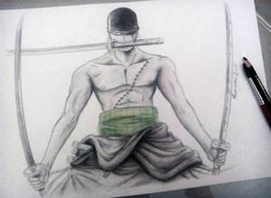 Zoro Roronoa from One Piece - Aquarell