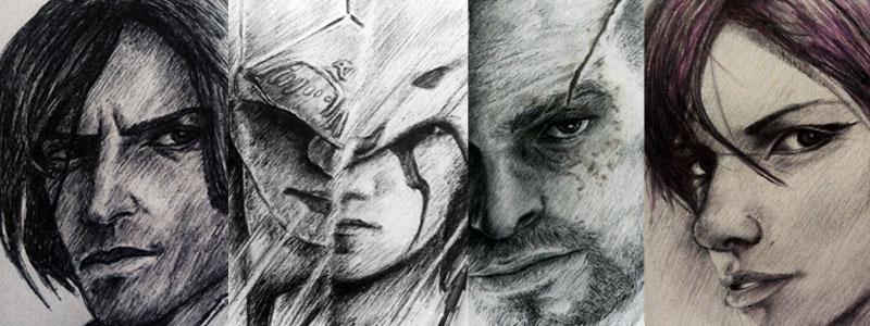 Some artworks 2 - Corvo Connor Vaas Fetch by Musiriam