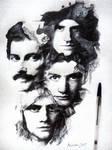 Queen Forever cover - ballpoint pen