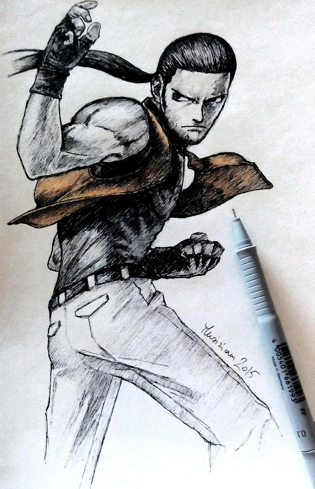 Robert Garcia Art Of Fighting Ink By Musiriam On Deviantart