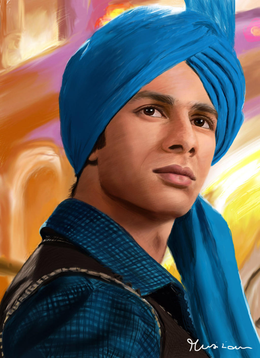 Shahid Kapoor From Mausam Movie Digital Painting By Musiriam On