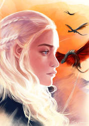 Mother of dragons - Daenerys by Musiriam