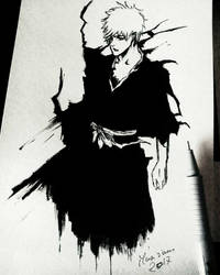 Ichigo - Last drawing of 2017 - Ink by Musiriam