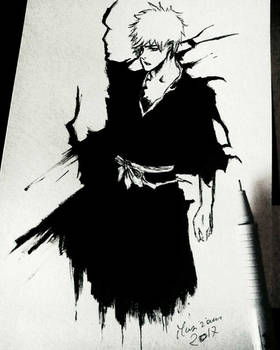 Ichigo - Last drawing of 2017 - Ink