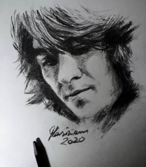 George Harrison - Charcoal