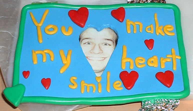 You make my heart smile-frame by GeekyLogic