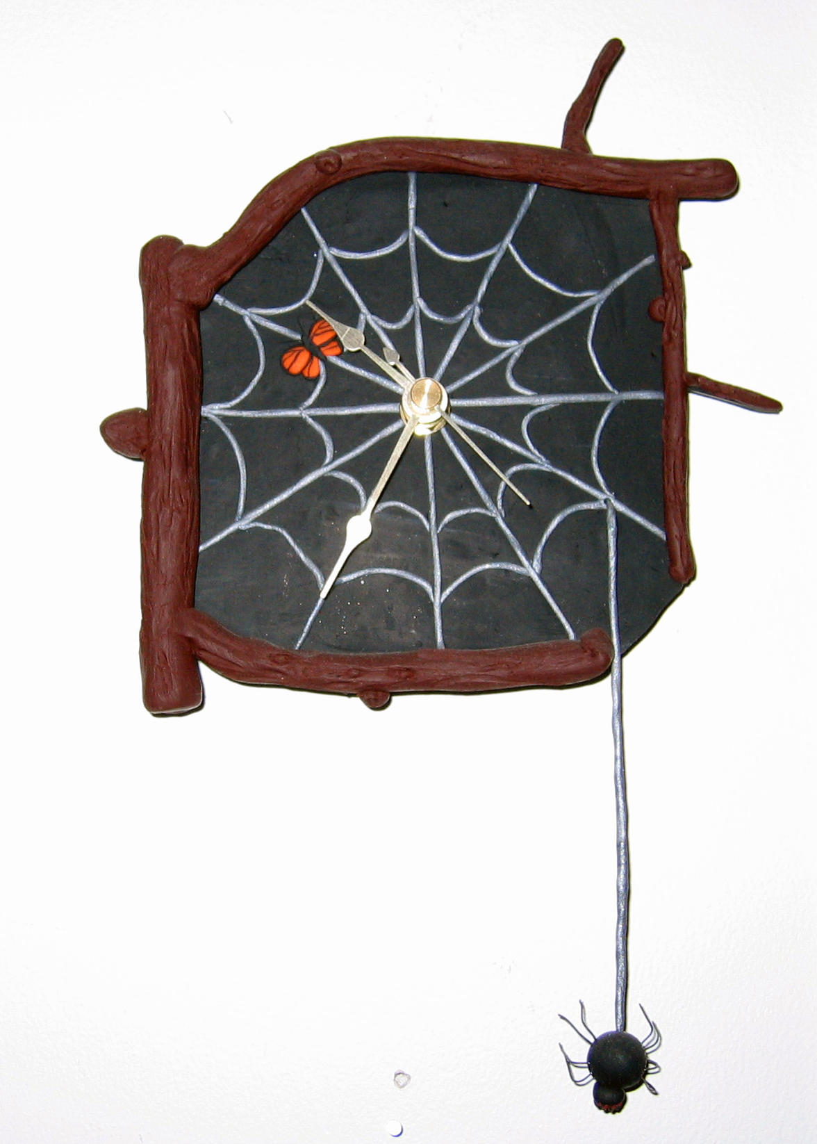 Black Spider's Haven -Clock by middypuppy