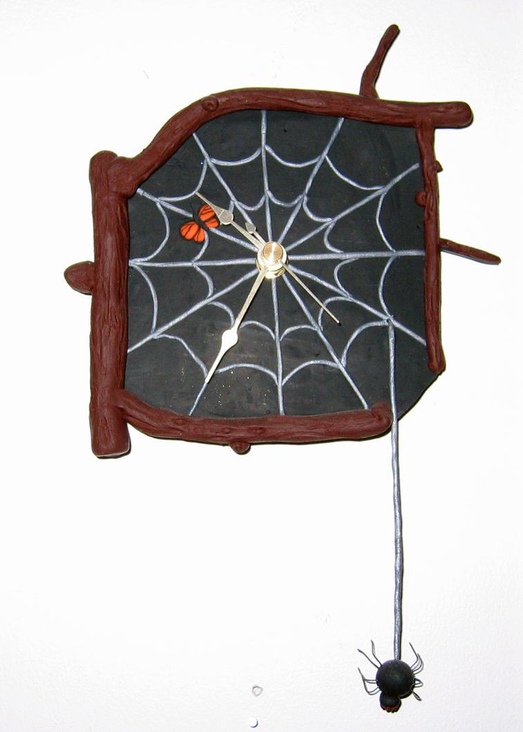 Black Spider's Haven -Clock by GeekyLogic