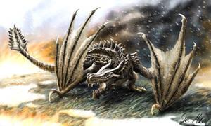 Skyrim Dragon by Humblebee12
