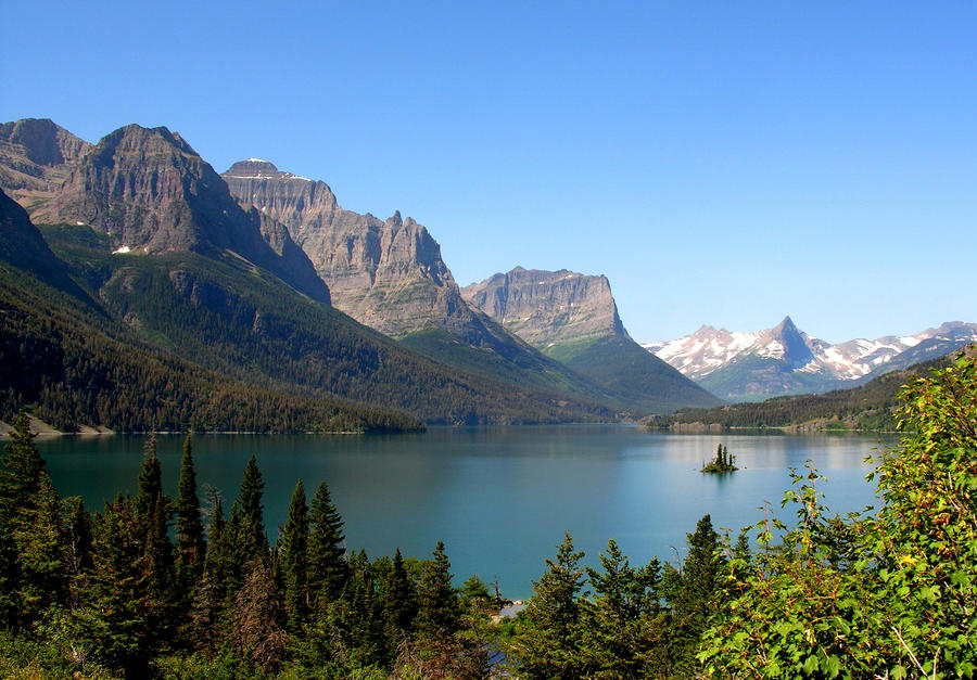 Glacier Park Lake by BeachGirlNikita