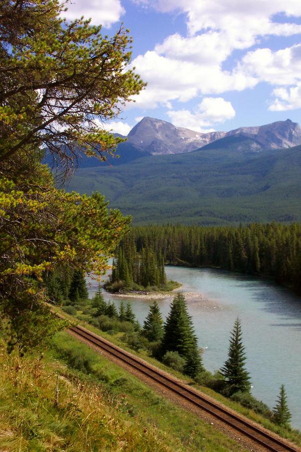 Railroad Tracks in Banff by BeachGirlNikita