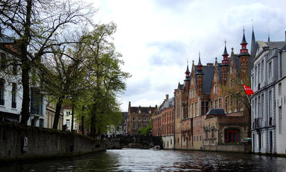 Bruges from a Boat by BeachGirlNikita
