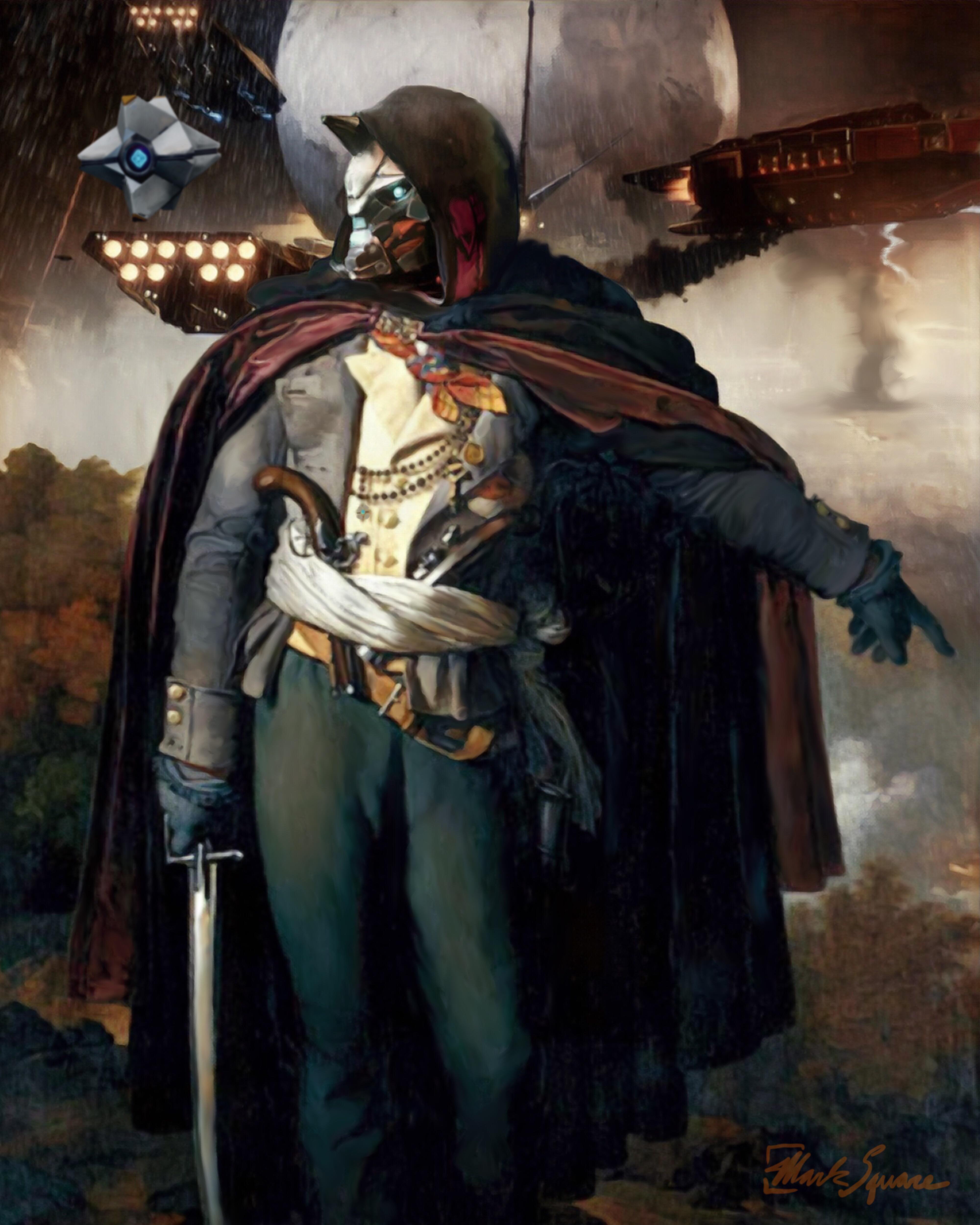 Portrait of Cayde Commander of the Vendée