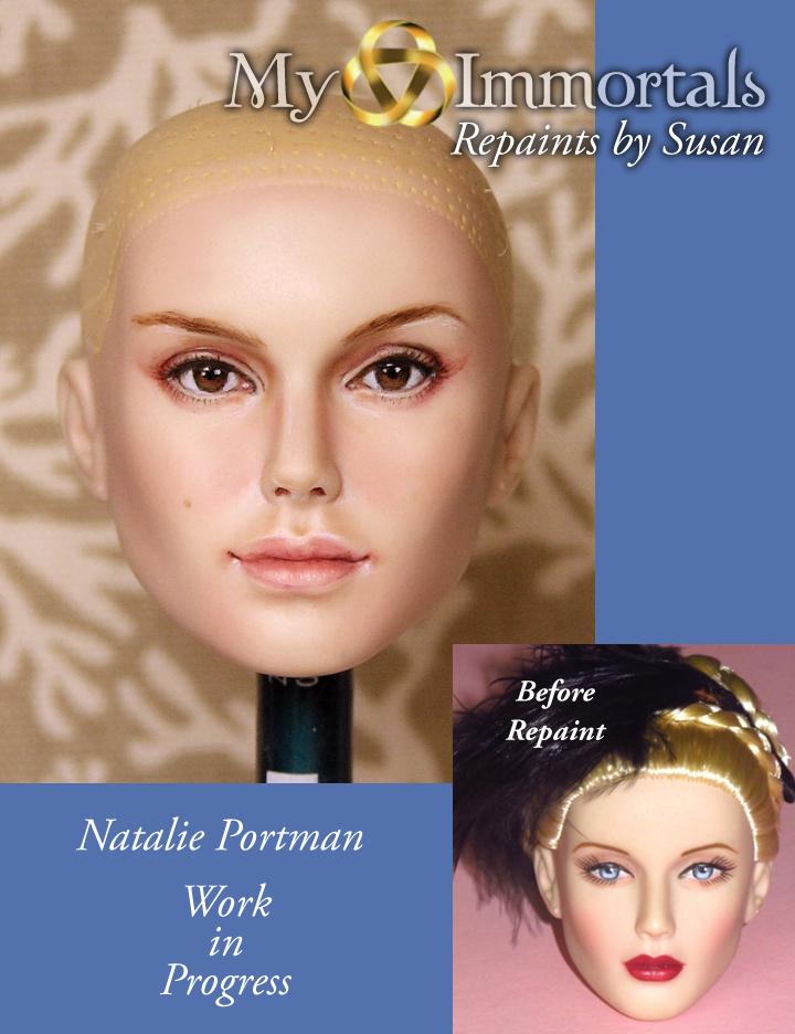 My Immortals repaint Natalie Portman/Padme Amidala by my-immortals