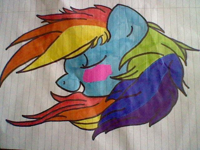 rainbow dash by 123deaththekid