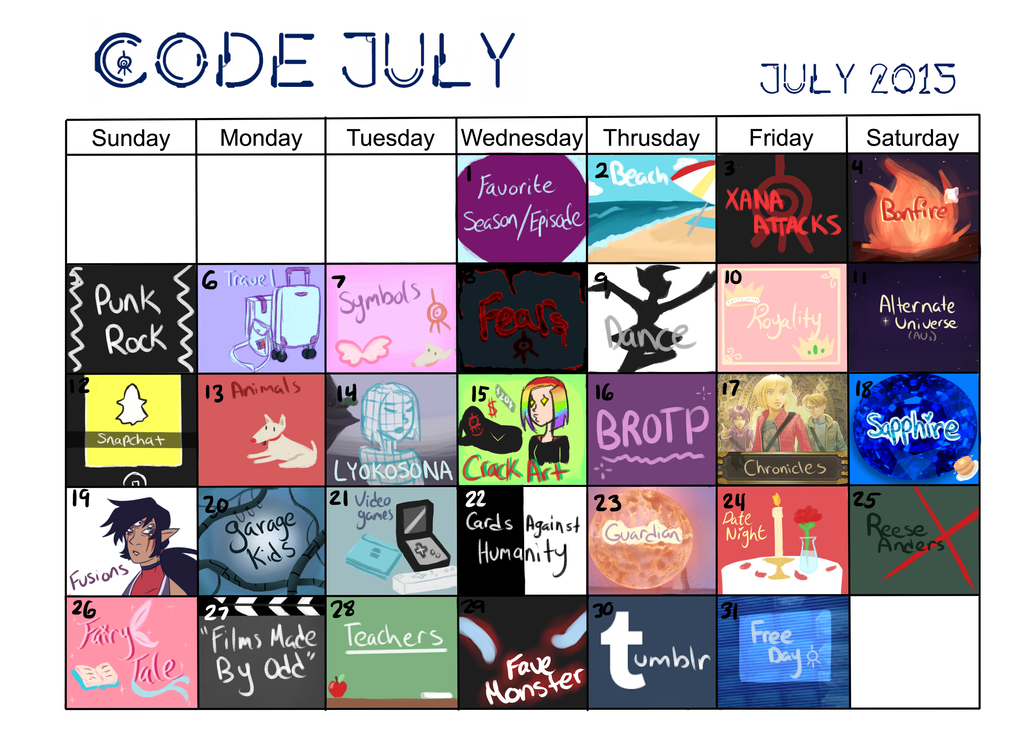 Code July 2015 by semie78