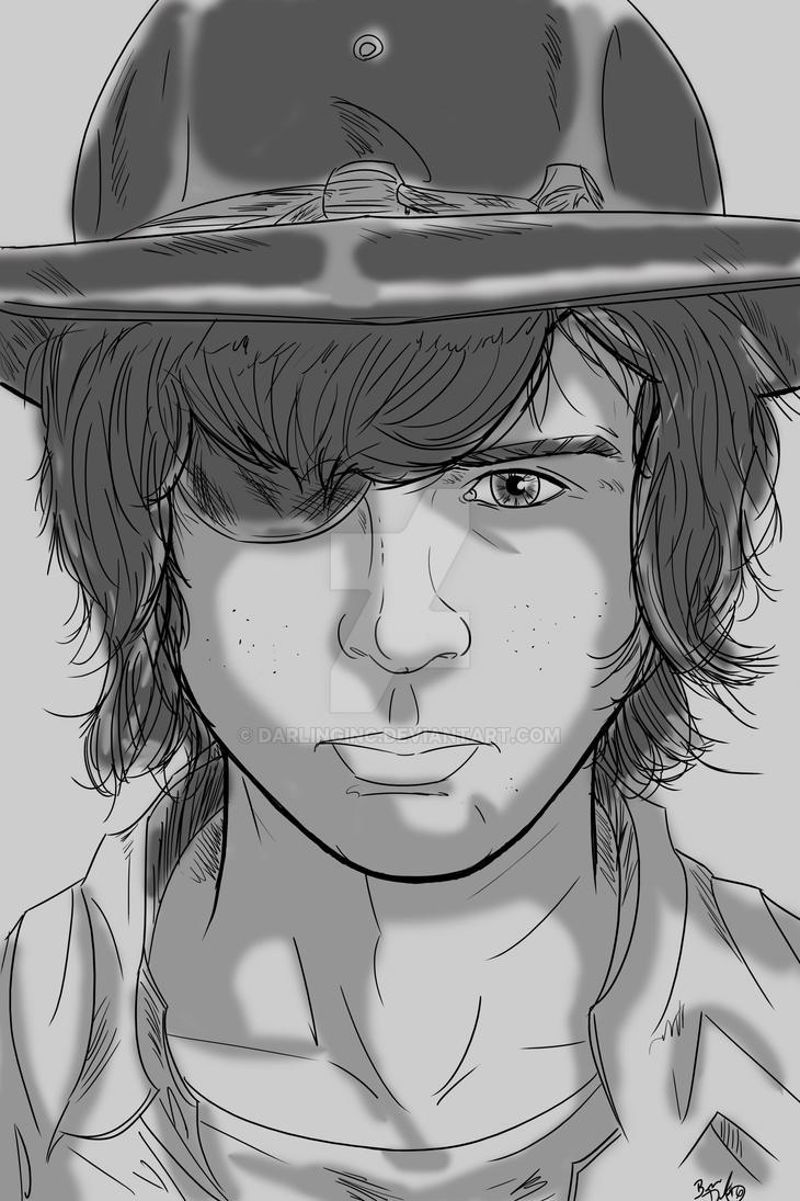 Walking Dead Sketch Cards: Carl by darlinginc