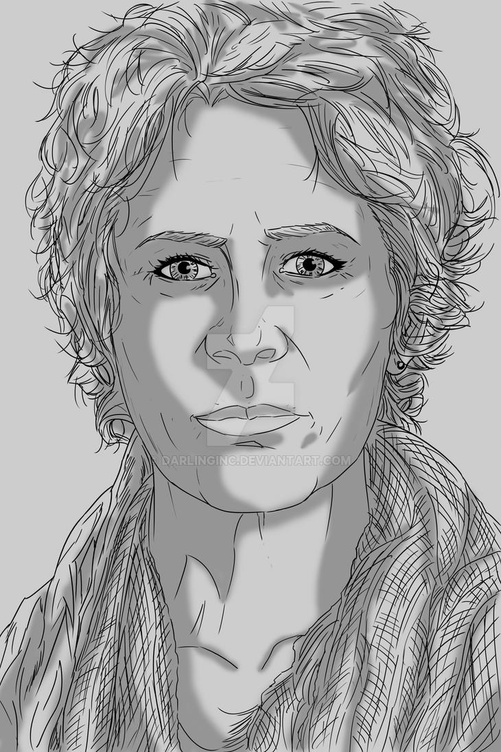 Walking Dead Sketch Cards: Carol by darlinginc
