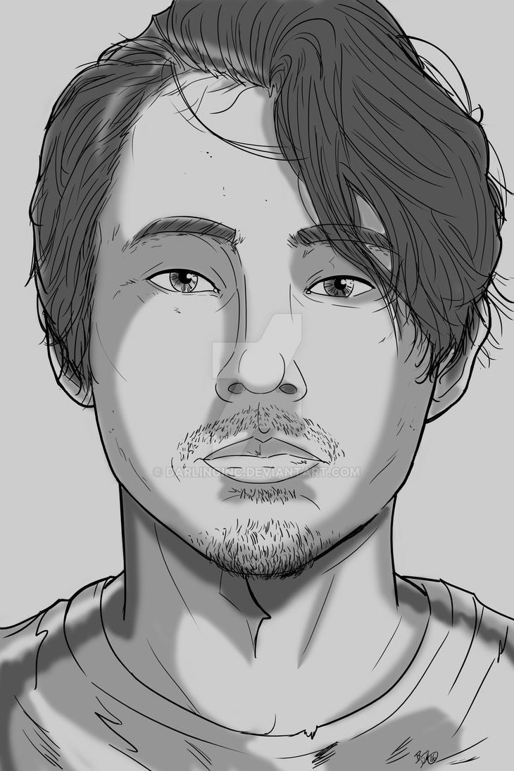 Walking Dead Sketch Cards: Glenn by darlinginc