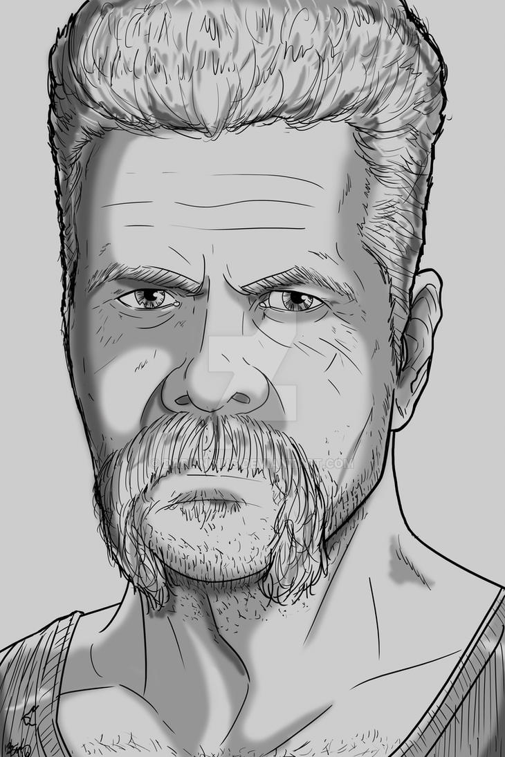 The Walking Dead Sketch card: Abraham by darlinginc