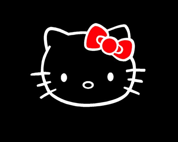 wallpaper hello kitty black - photo #12