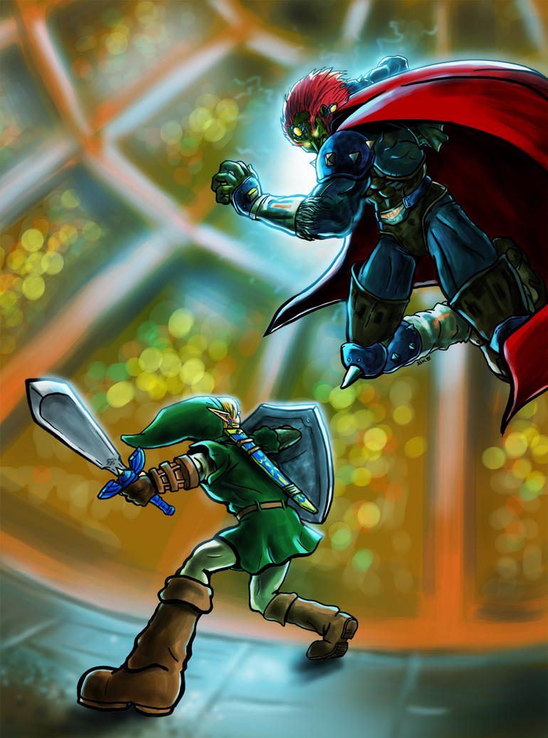 Ganondorf aerial attack by skedart